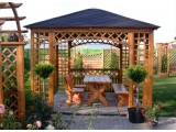 Altana ogrodowa kwadratowa 9
